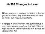 6 303 changes in level