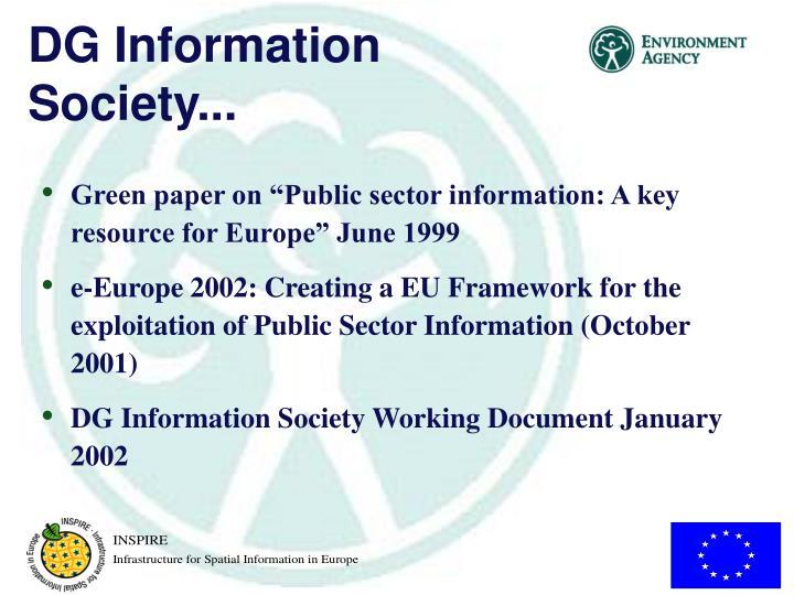 DG Information Society...