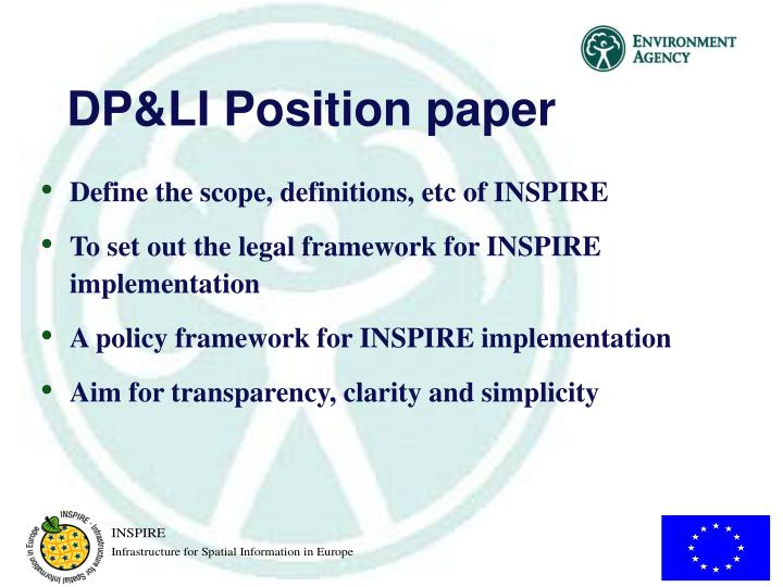 DP&LI Position paper