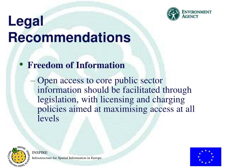 Legal Recommendations