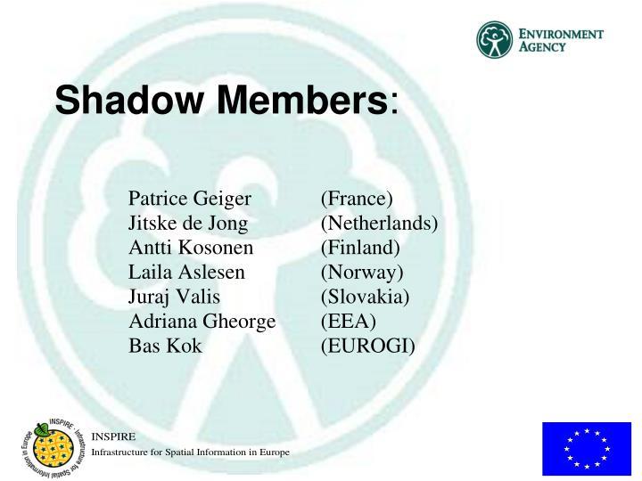 Shadow Members
