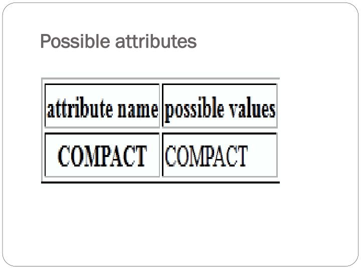 Possible attributes