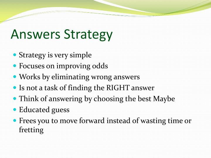 Answers Strategy