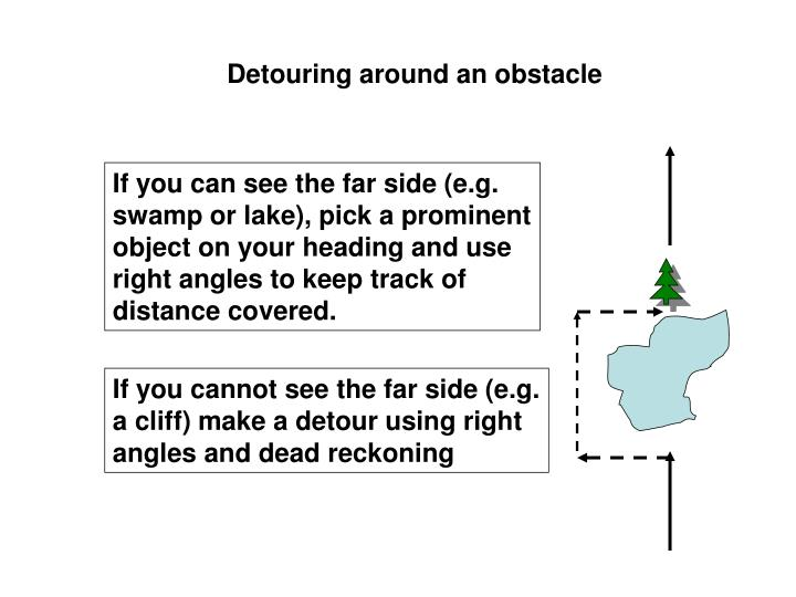 Detouring around an obstacle