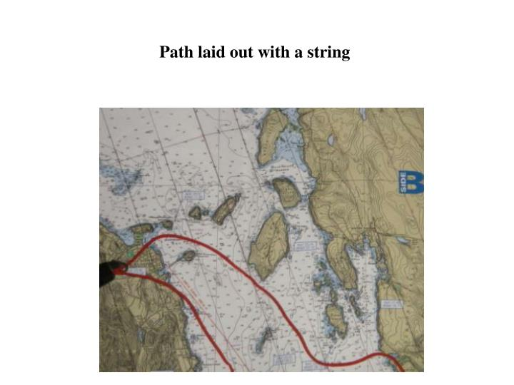 Path laid out with a string
