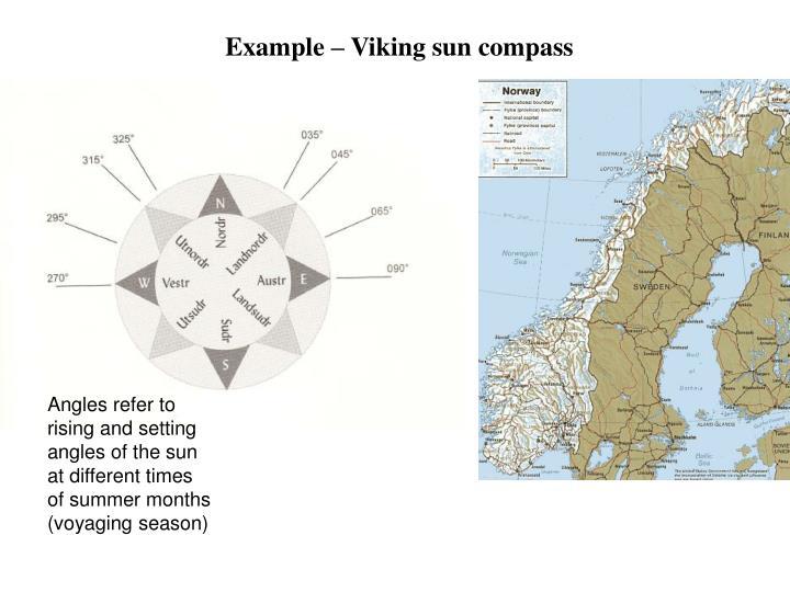Example – Viking sun compass