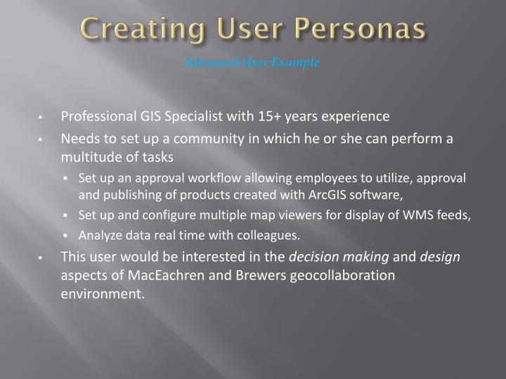 Creating User Personas