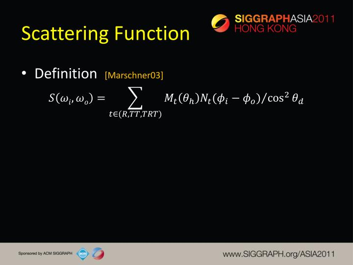 Scattering Function