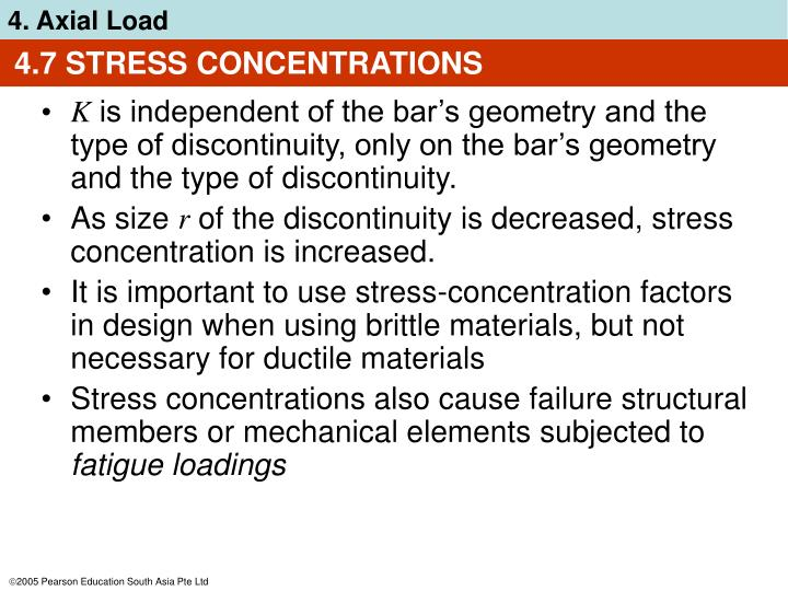 4.7 STRESS CONCENTRATIONS