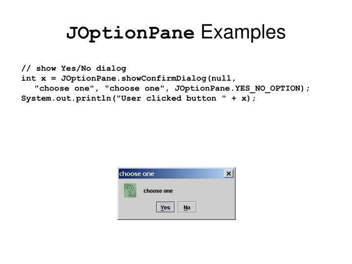 JOptionPane