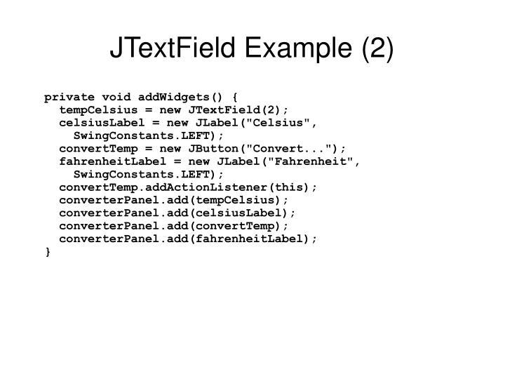 JTextField Example (2)