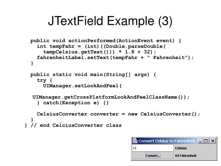 JTextField Example (3)