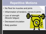 repetitive motions