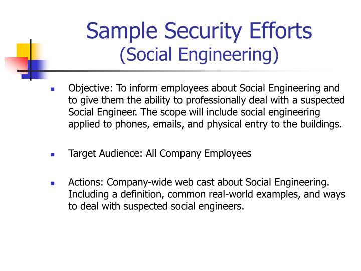 Sample Security Efforts