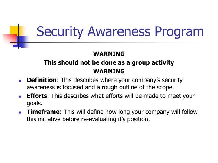 Security Awareness Program