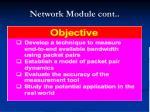 network module cont