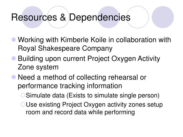 Resources & Dependencies