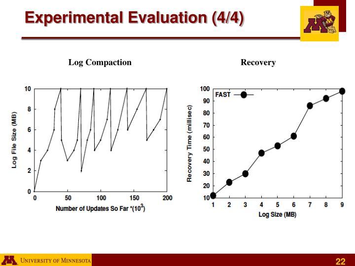 Experimental Evaluation (4/4)