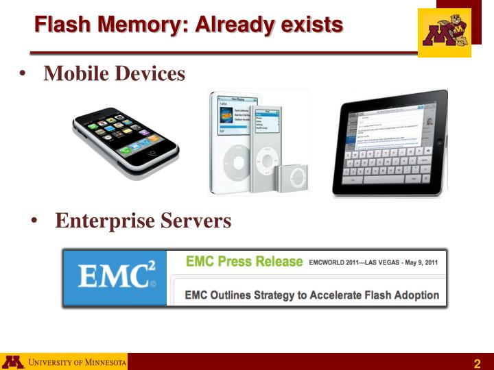 Flash memory already exists