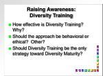 raising awareness diversity training