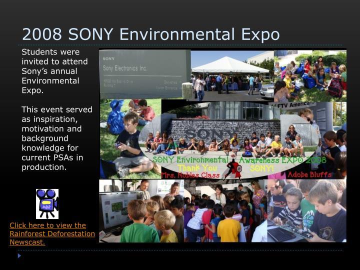 2008 SONY Environmental Expo