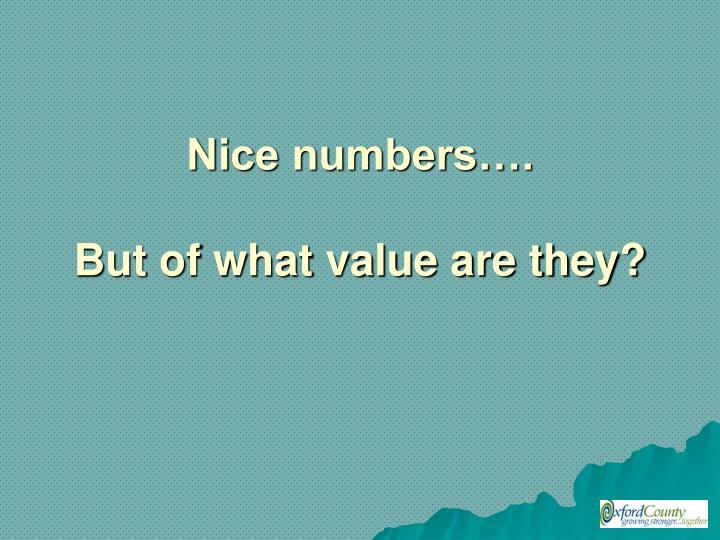 Nice numbers….