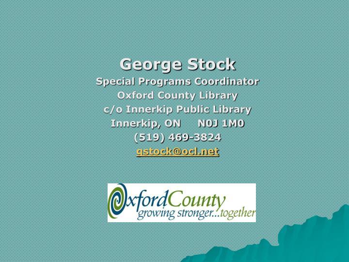 George Stock