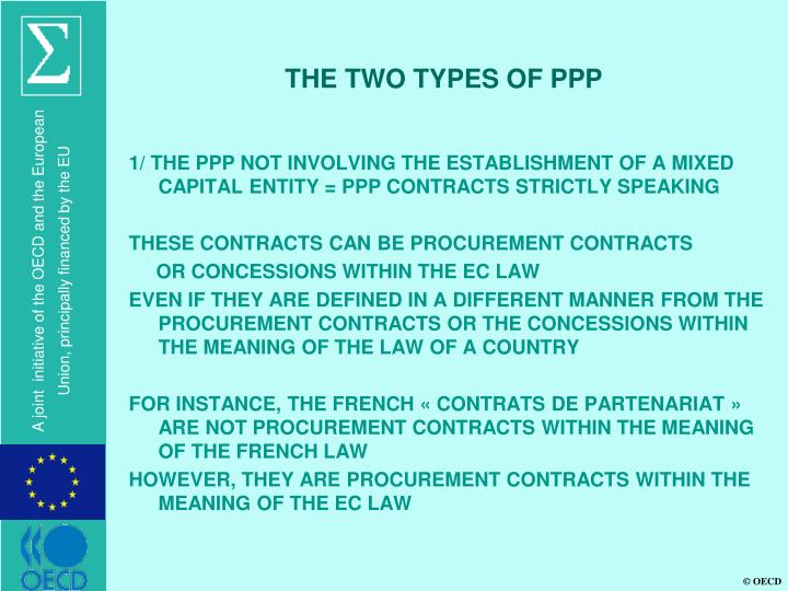 THE TWO TYPES OF PPP