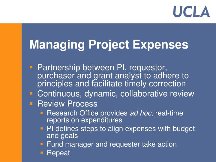 Managing Project Expenses