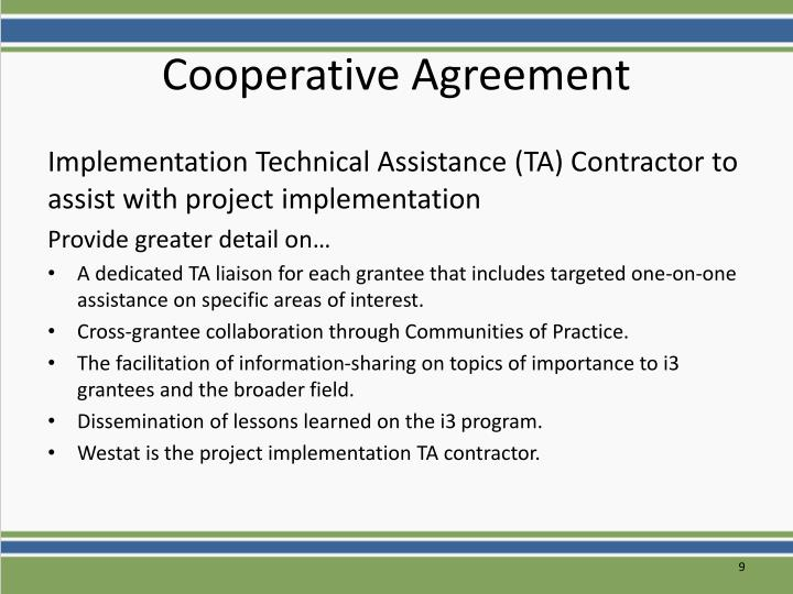 Cooperative Agreement