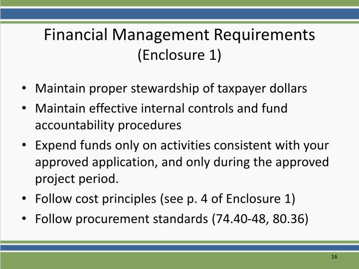 Financial Management Requirements