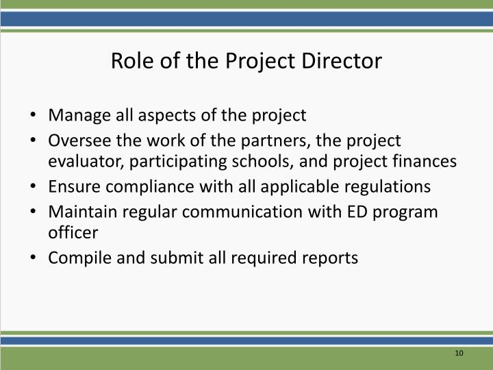 Role of the Project Director