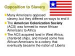 opposition to slavery