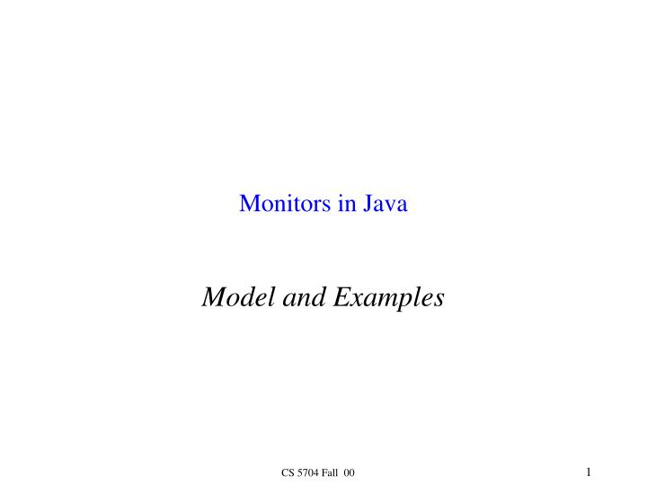 monitors in java