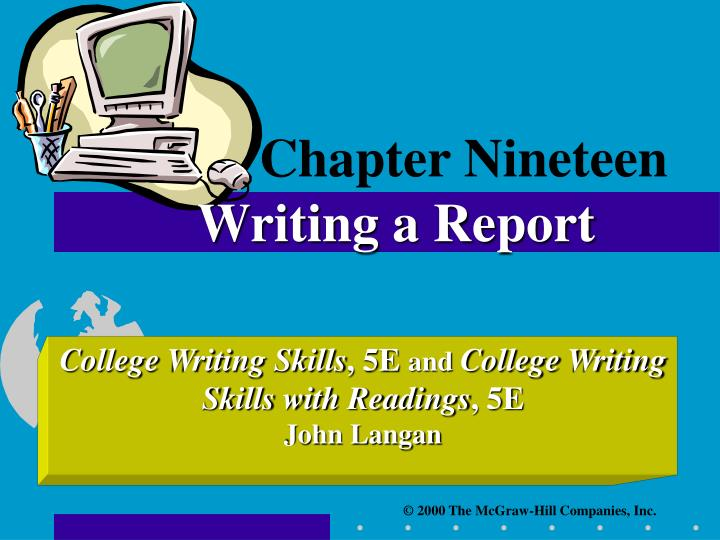 chapter nineteen writing a report n.