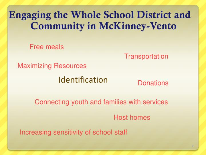 Engaging the whole school district and community in mckinney vento