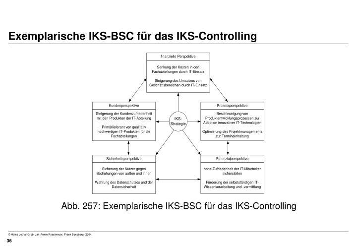 Exemplarische IKS-BSC für das IKS-Controlling