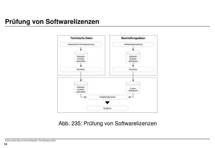 Prüfung von Softwarelizenzen