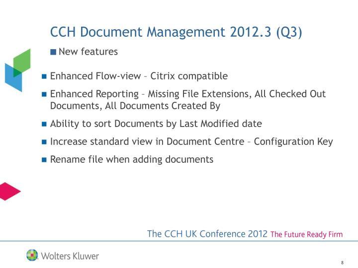 CCH Document Management 2012.3 (Q3)