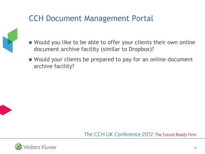 CCH Document Management Portal