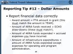 reporting tip 12 dollar amounts