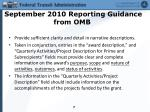 september 2010 reporting guidance from omb3