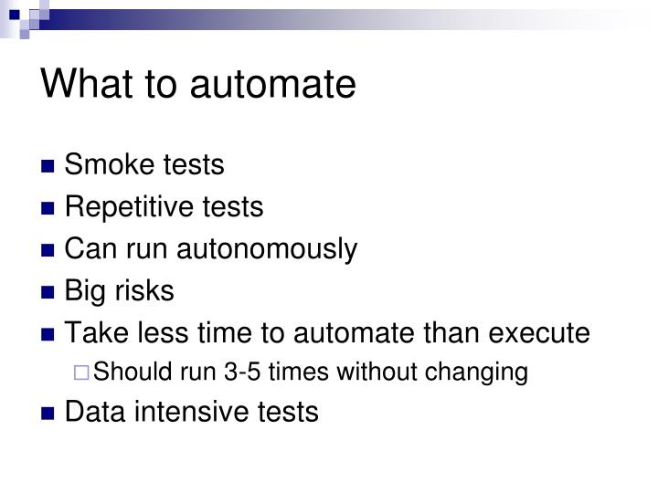What to automate