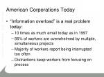 american corporations today