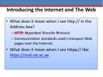 introducing the internet and the web14