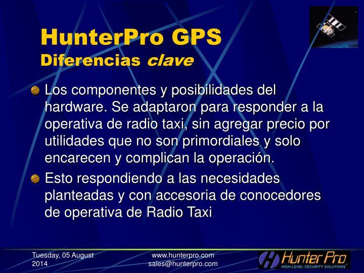 Hunterpro gps diferencias clave