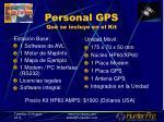 personal gps qu se incluye en el kit