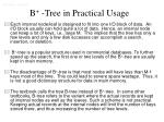 b tree in practical usage
