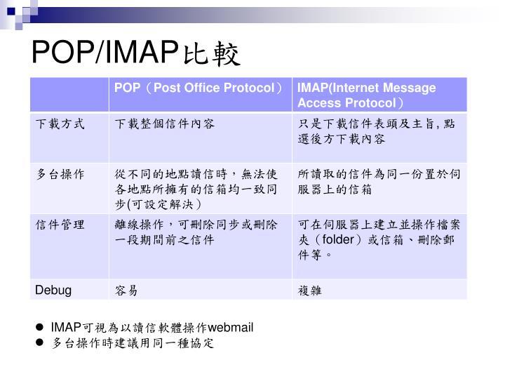 POP/IMAP