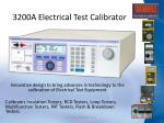 3200a electrical test calibrator